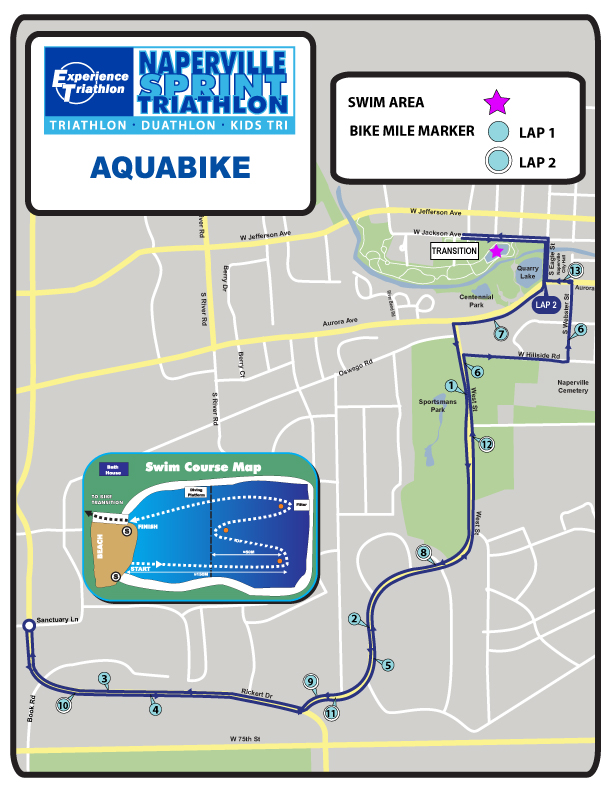 Naperville Aquabike Course Map