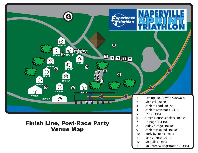 Naperville Sprint Triathlon Venue