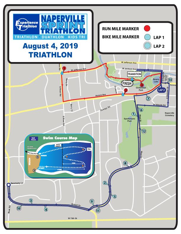 Race Course | Naperville Sprint Triathlon | Naperville, IL